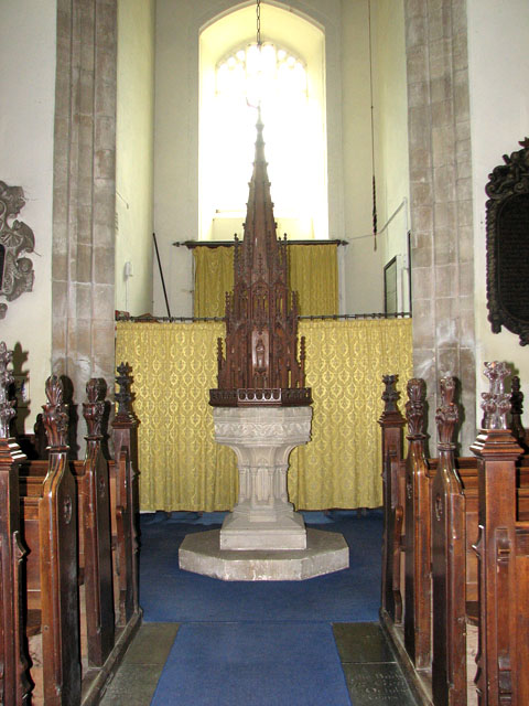 St Andrew's church in Northwold - baptismal font