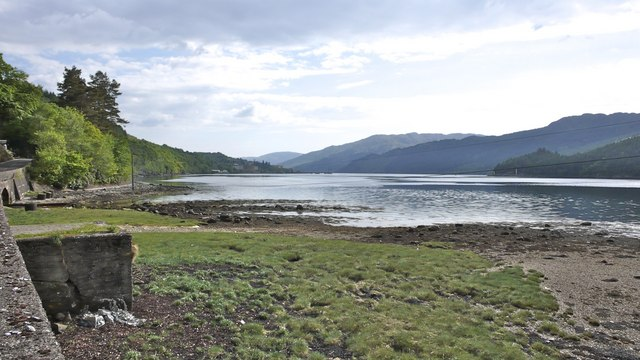 Eastern shoreline of Gare Loch near Shandon