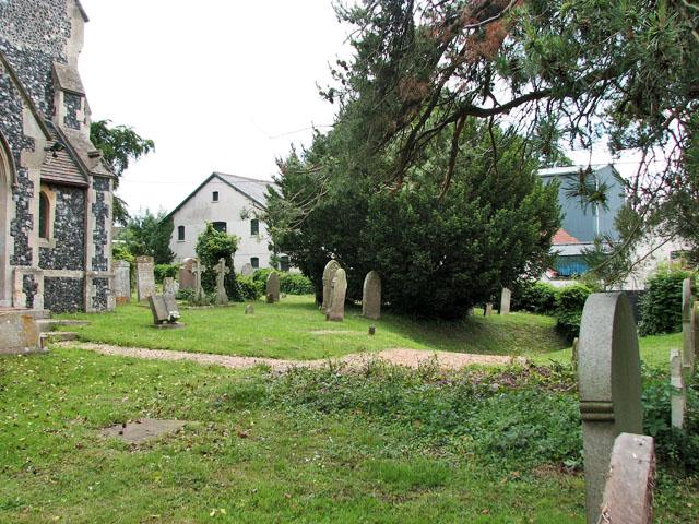 Christ Church in Whittington - churchyard