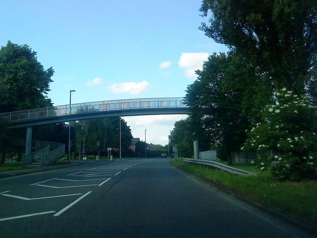 Footbridge over Bye Pass Road