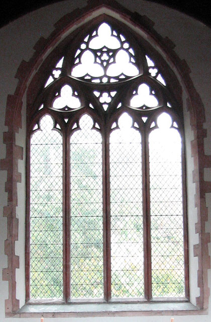 Christ Church in Whittington - east window