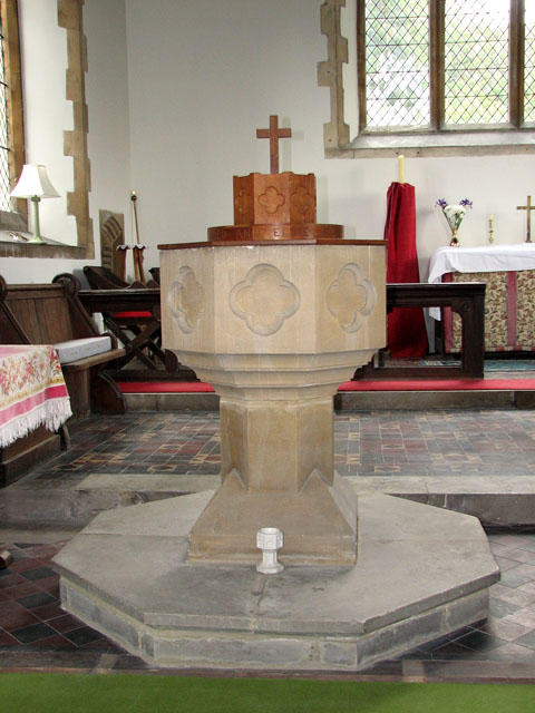 Christ Church in Whittington - two fonts