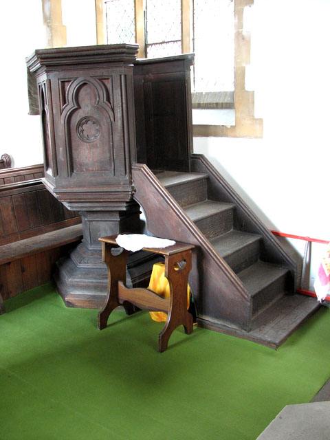 Christ Church in Whittington - the pulpit