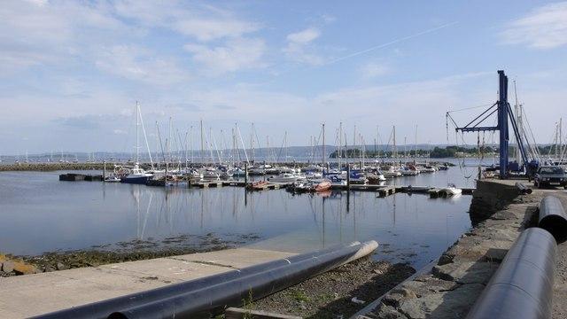 Yachts moored at Rhu Marina, River Clyde