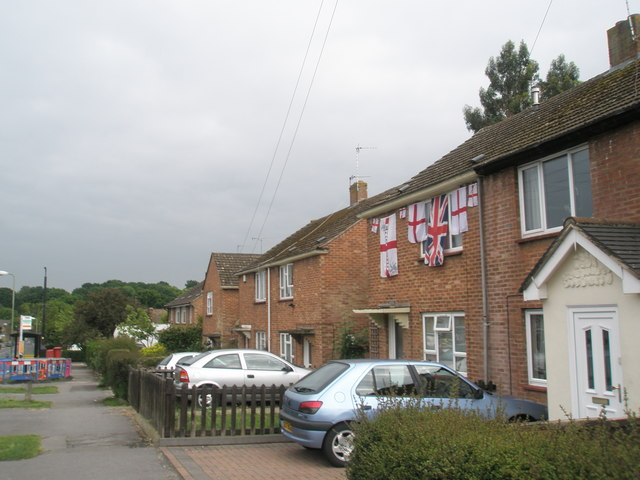 Patriotic flags in Waterlooville (One)