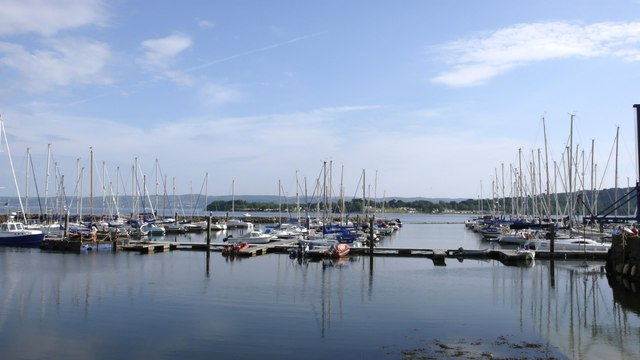 Jetties in the marina at Rhu, River Clyde