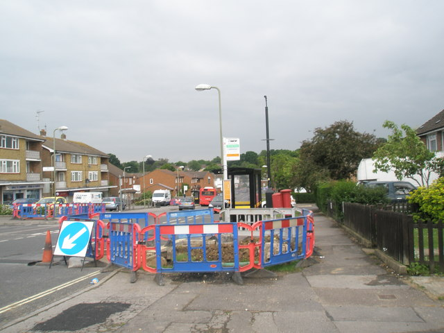 Roadworks in Mill Road