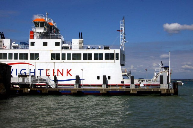 IOW ferry waiting to leave Yarmouth