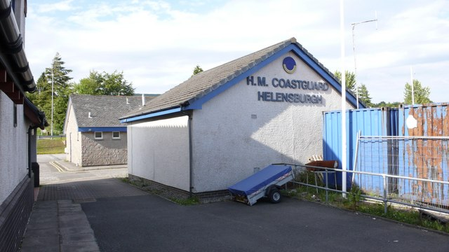 HQ of Helensburgh Coastguard on the dockside  at Rhu