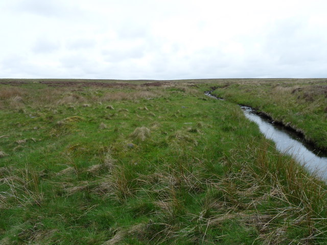 Site of a shieling by the Burn of Houstry