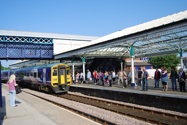 The Sheffield train pulling into Bridlington Station