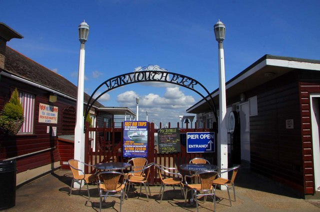 The entrance to Yarmouth Pier