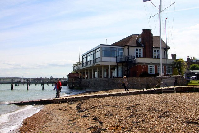 The Royal Solent Yacht Club in Yarmouth