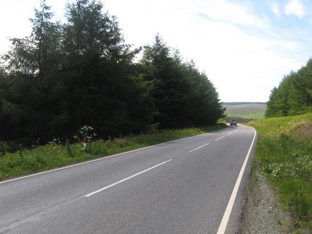 The B6357 heading south