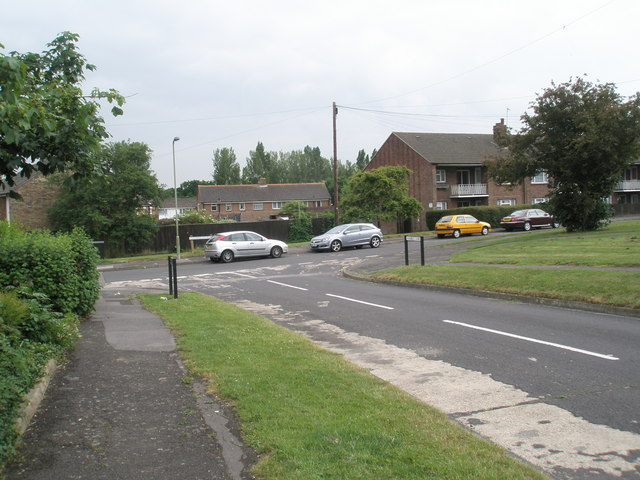 Looking down Hamble Lane towards Cunningham Road