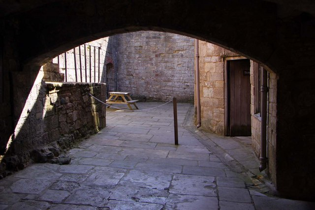 Inside Yarmouth Castle