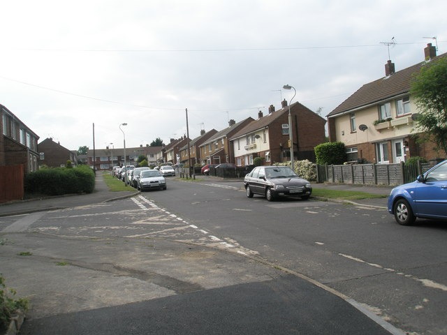 Junction of Vian Road and Hamble Lane