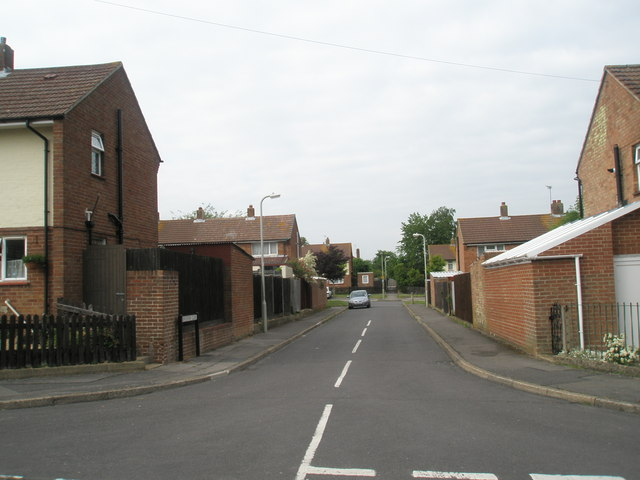 Looking from Vian Road into Beresford Close