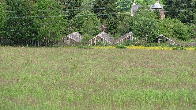 Ruined greenhouses, Kilmarnock House