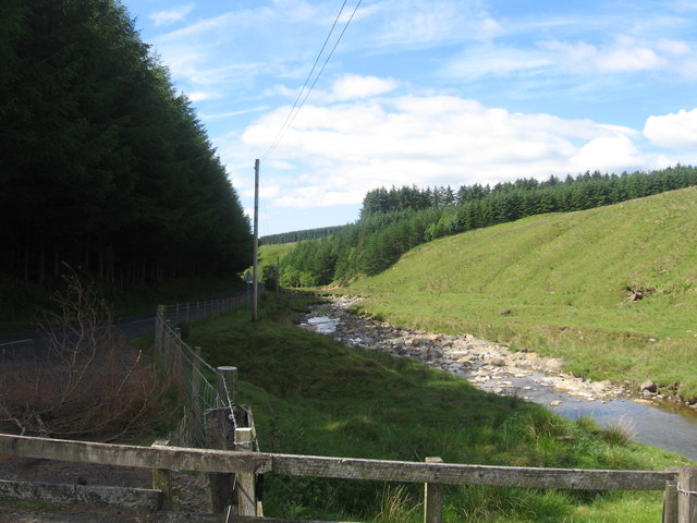 Dawston Burn looking upstream