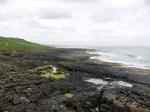 Harkess Rocks, west of the lighthouse
