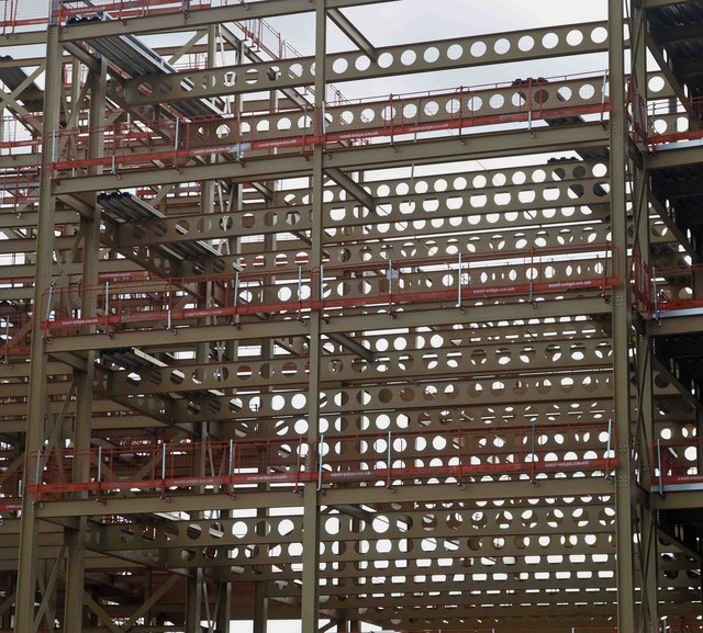 Steel structure for the new Rotherham Metropolitan Borough Council offices