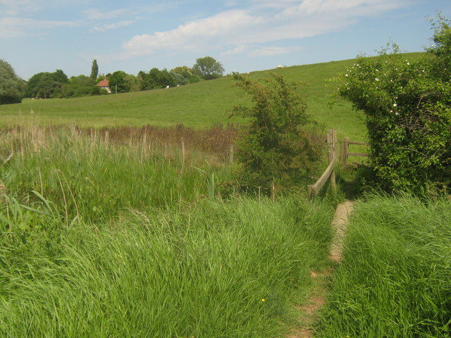 Footbridge near Mill Mound on the Saxon Shore Way