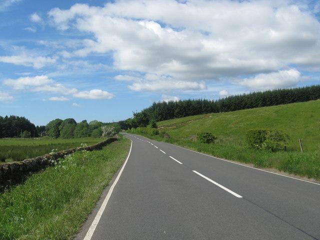 The B6357 heading towards Larriston Farm