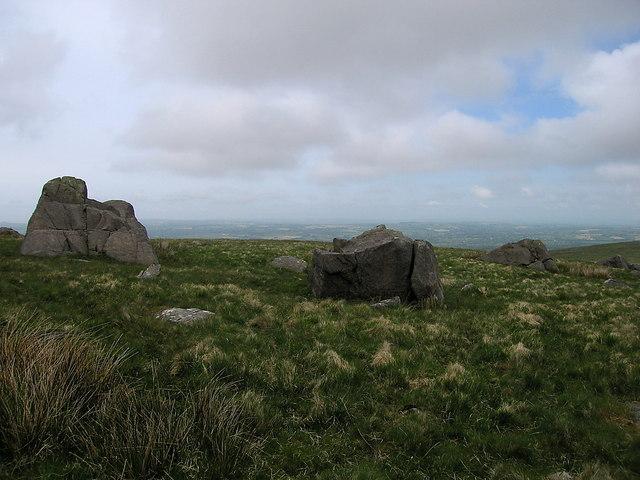 Rock outcrops on the Preseli ridge