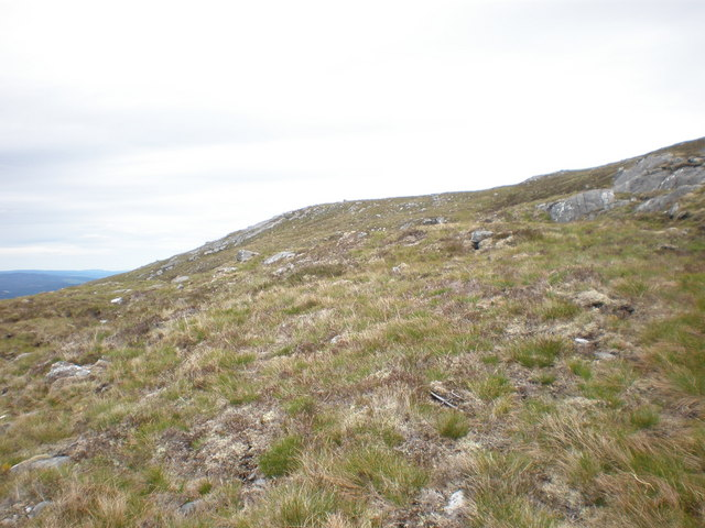 Rocky outcrops on Carn a' Mhuilt