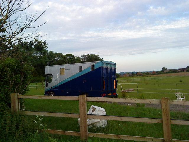 Horse van at Southfields Farm
