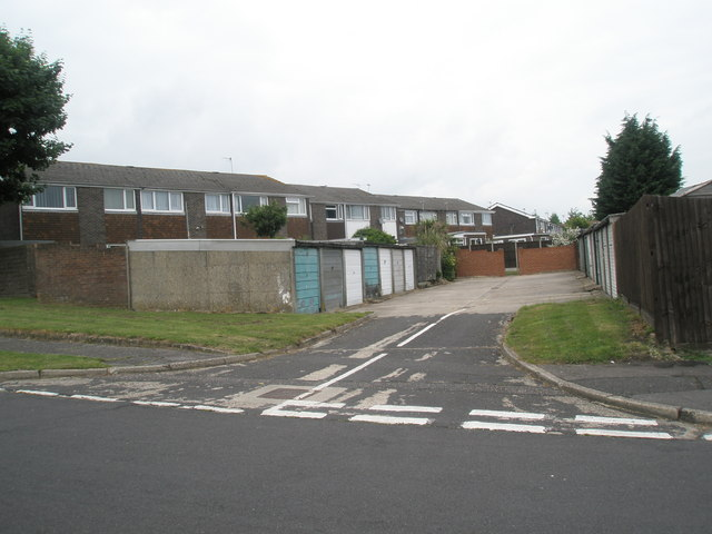 Looking from Gordon Road into Charles Close