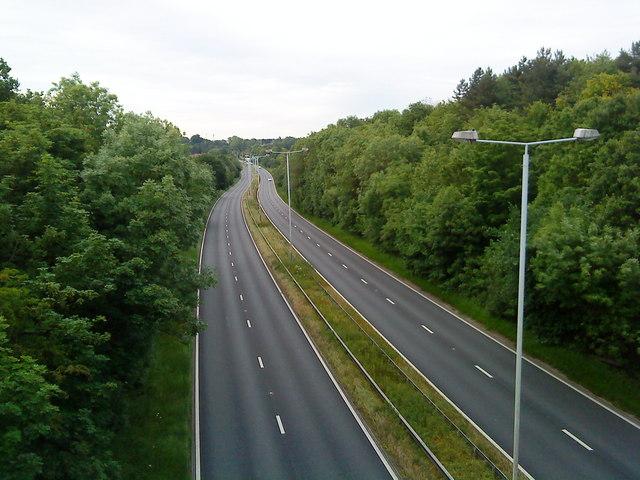 A52 towards Nottingham