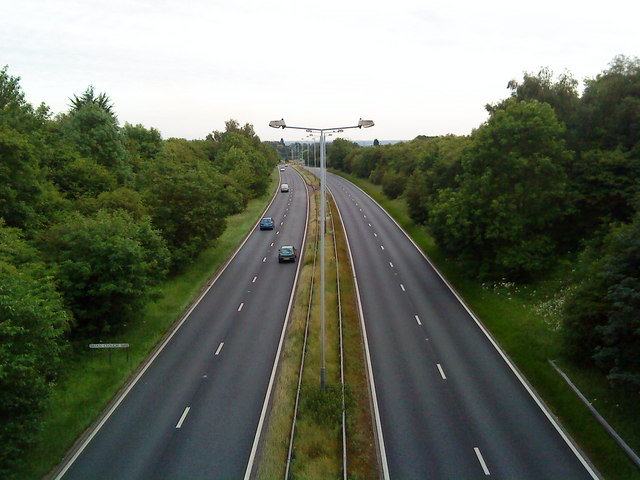 A52 towards Derby
