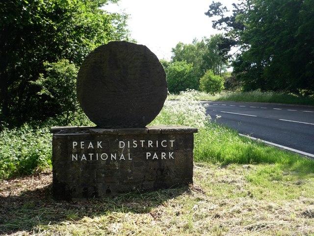 National Park Boundary Sign, A625, Sheffield