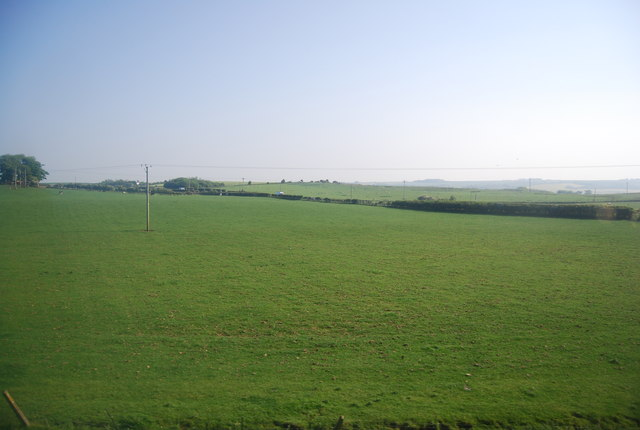 Pasture land between the A165 and railway line