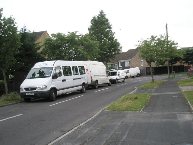 White vans in Corbett Road