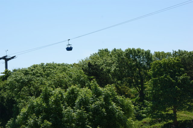 The cable car on the Great Orme