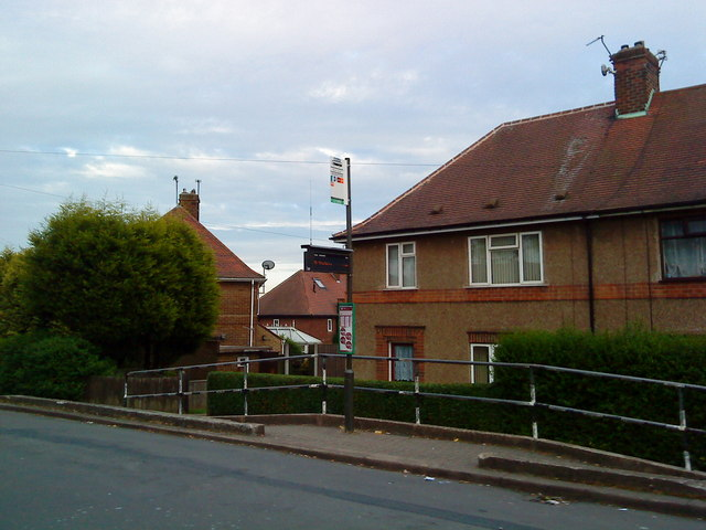 Bus stop on Inham Road, Chilwell