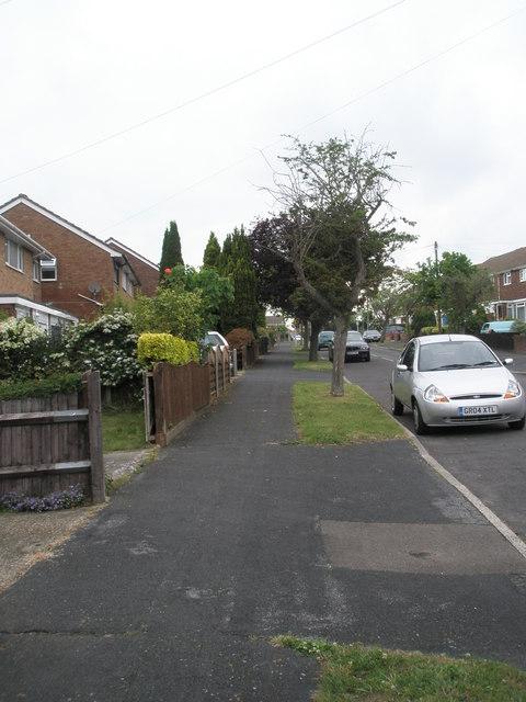 Pavement in Corbett Road