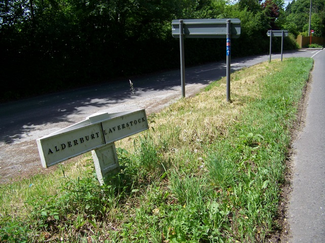 Boundary post, Alderbury