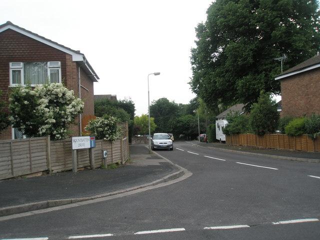 Looking from Corbett Road into Mountbatten Drive