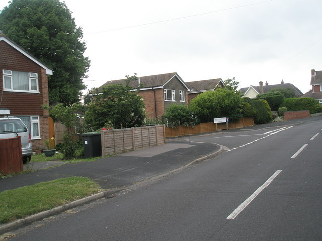 Approaching the junction of  Corbett Road and Mountbatten Drive