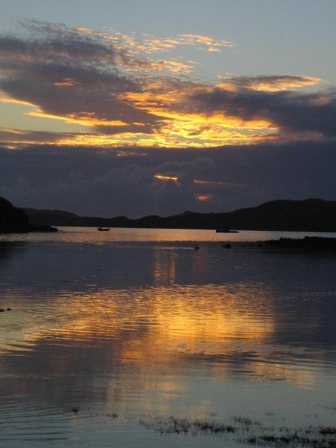 Sunset over Loch na Lathaich