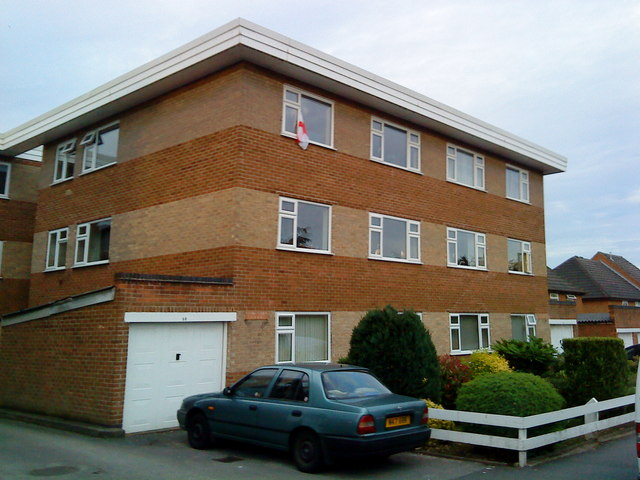 Apartment block on Hall Drive, Chilwell