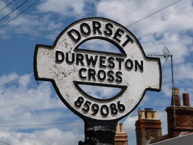 Durweston: detail of finger-post