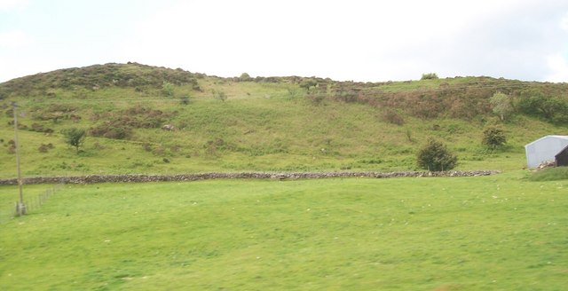 The north eastern spur of the Bryniau Ystumcegid hills