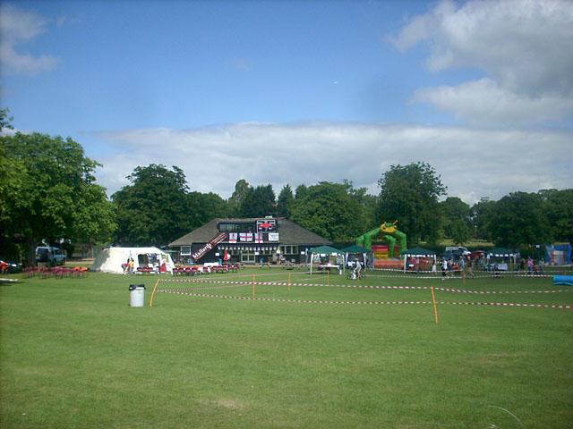 Cricket pavilion on the village green