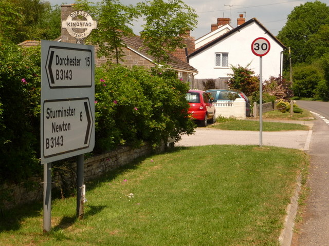 King's Stag: signs on the B3143