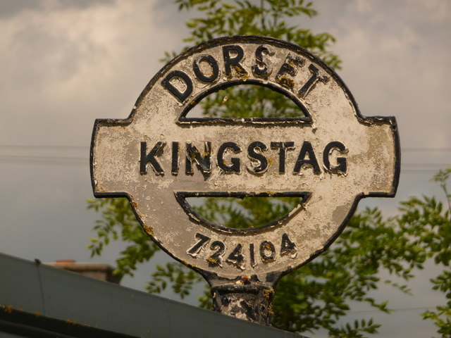 King's Stag: finger-post finial close-up